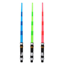 Cosplay Star Wars Electronic Telescopic Lightsaber w/ Light&Sound Weapons(China (Mainland))