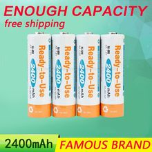 Golooloo 2400mAh Enough Capacity BPI AA 1.2V NI-MH Rechargeable Battery Low self-discharge Longer and stronger use of time