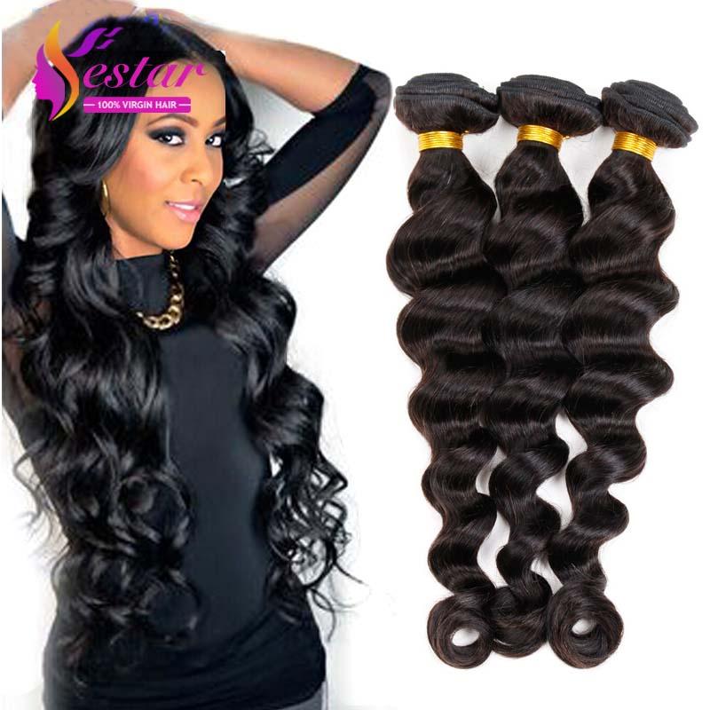 Brazilian Loose Wave 7A Unprocessed Brazilian Hair Weave 3 Bundles Yestar Hair Products Virgin Brazilian Loose Deep Hair(China (Mainland))
