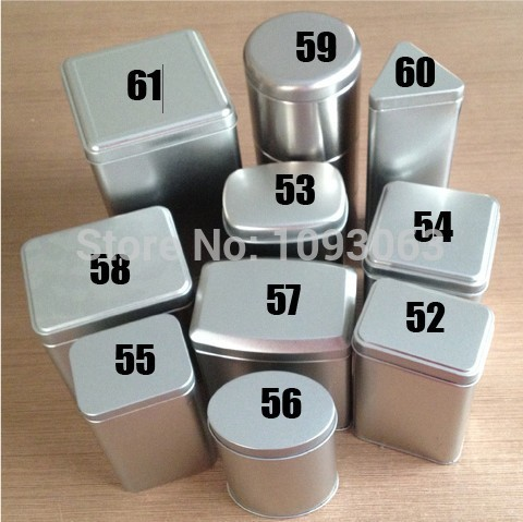 Silver Tea Gift Tin Box Triangle Square Round Shaped Storage Container Metal(China (Mainland))
