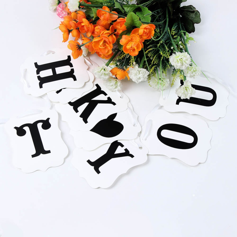THANK YOU Wedding Banner Wedding Sign Photo Prop Wedding Party Decoration New(China (Mainland))