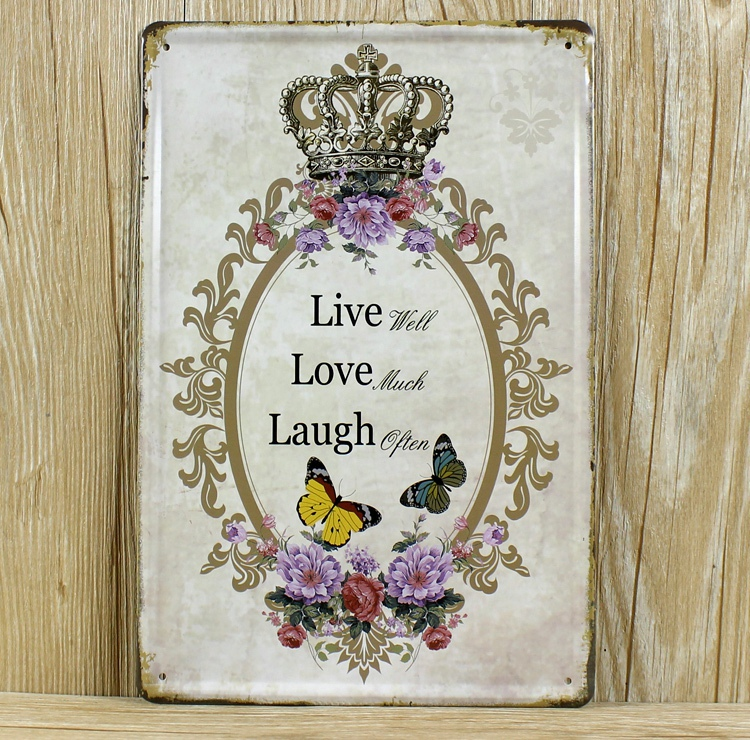 Buy Rzxd 043 Live Well Love Much Laugh Often Vintage Metal Signs Home Decor