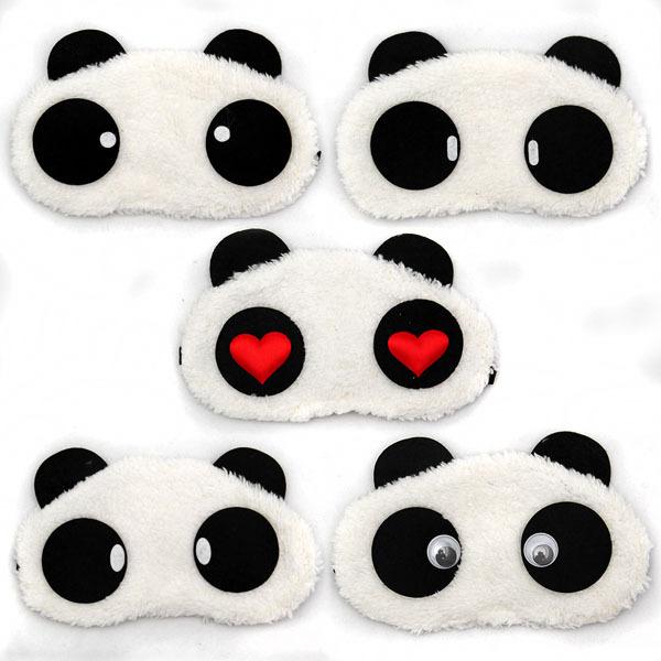 Free Shipping Panda Sleeping Eye Mask Nap Eye Shade Cartoon Blindfold Sleep Eyes Cover Sleeping Travel Rest Patch Blinder(China (Mainland))