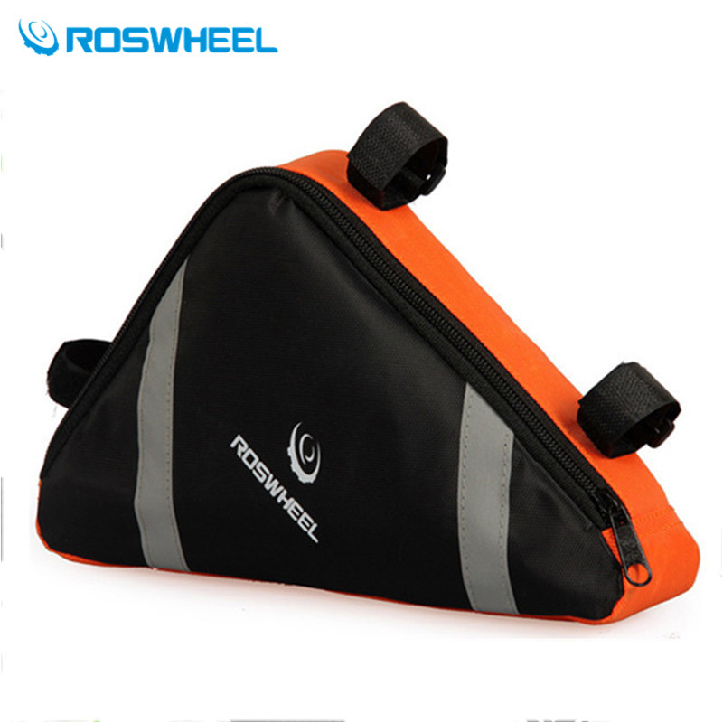 Roswheel Mountain Bicycle Bike Bag 2.6L Orange/Blue Bycicle Cycling Front Bags Bolsa Bicicleta Frame Tube Triangle Tool - JACKY PENG's store