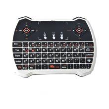Израиль иврит мини-клавиатурой 2.4 г R6 беспроводной игровой клавиатуры сенсорной мышь воздуха для android-тв коробка / PC / PS3 геймер