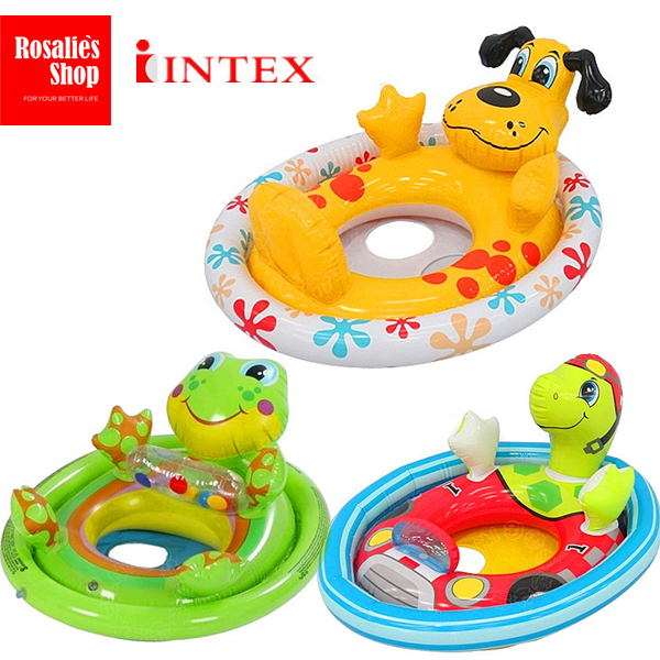 INTEX Cartoon swimming rings float ring Baby Seat float Puppy Frog Turtle Kids life buoy for 1-5 years old children(China (Mainland))