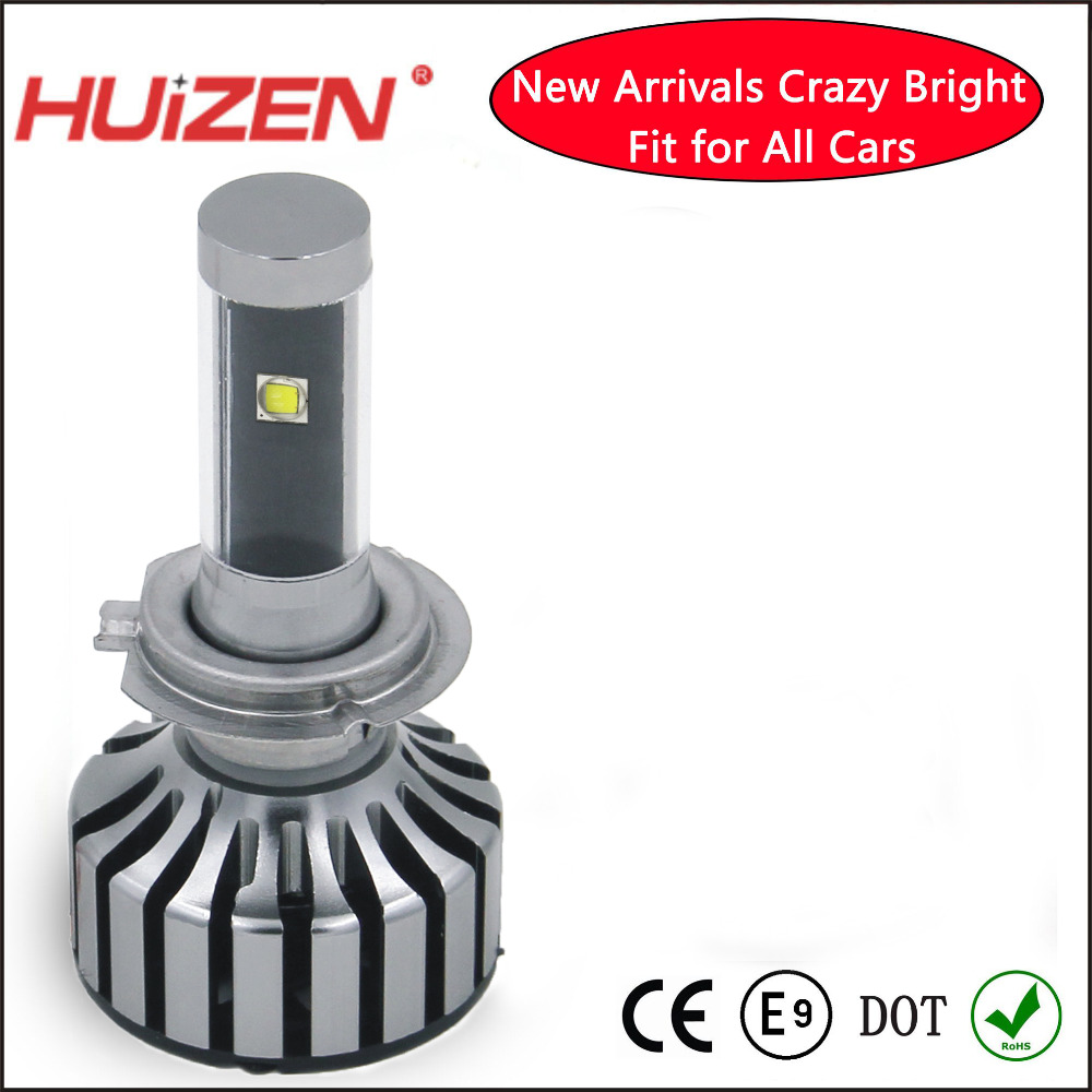 LED H7 automobile LED headlamp car led headlight 36w 3600lm passed E-mark DOT CE waterproof(China (Mainland))