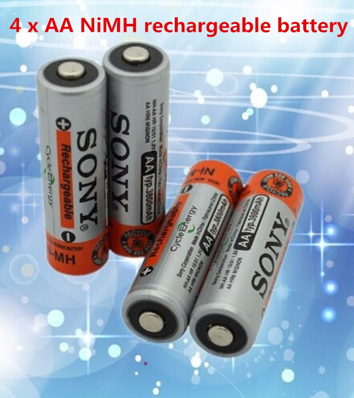 Brand New 0riginal 4pcs/Lot 1.2V NiMh AA 3800 Battery Rechargeable AA Batteries for sony pilas recargables(China (Mainland))
