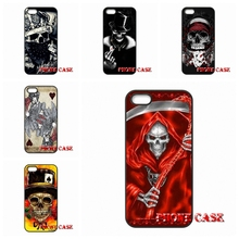 Mobile Pouch Poker Skull Tatoo Sony Xperia Z Z1 Z2 Z3 Z4 Z5 Premium compact M2 M4 M5 C C3 C4 C5 E4 T3 - My-Div-Phone-Cases 2016 store
