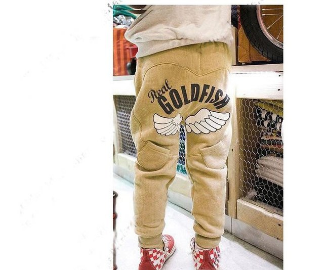 2015 Hot Sale Sale Freeshipping Loose Free Shipping!2013 Most Popular Boys&girls Children Wear Angel Harem Pants,the Trousers