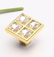 Golden crystal knob, Gold diamond drawer hardward cabinet handle door handle(China (Mainland))