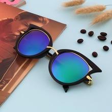 Fashion Retro Metal Frame Sexy Cat Eye Sunglasses for Women Coating Brand vintage sun glasses female oculos de grau femininos(China (Mainland))