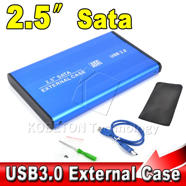 "High Speed Portable USB 3.0 to SATA 2.5"" HDD External Enclosure USB3.0 Hard Disk Drive Case Box for PC Computer Laptop Notebook(China (Mainland))"