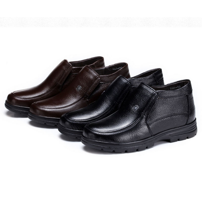 Alex hoo free shiping hot selling 2016 new spring black and coffee genuine leather 38-44 flat with rubber man shoes#TXB00097(China (Mainland))