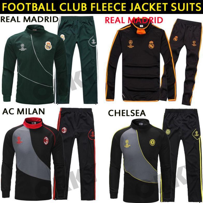 14-15 Real Madrid coat jersey 2015 AC milan and Chelsea borussia Dortmund fleece jacket suits cheap sport jersey(China (Mainland))
