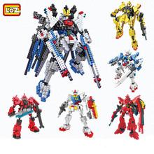 LOZ Gundam Building Blocks DIY Robot Model Kid Favorite  3D Mini Bricks Toy Children's Day Gift(China (Mainland))