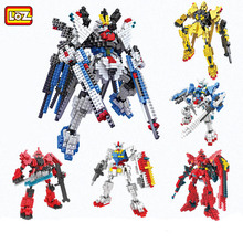 LOZ Gundam Building Blocks DIY Robot Model Kid Favorite 3D Mini Bricks Toy Children's Day Gift