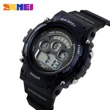 Reloj de lujo SKMEI hombres relojes relojes militares LED Solar Solar electrónica reloj del deporte 50 m impermeable Relogio Masculino relojes de pulsera