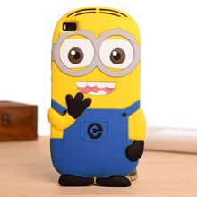 P8,P8Lite Phone Case 3D Cute Cartoon Soft Silicone Yellow Minion Despicable silicon Back Cover huawei P8 P8lite Gel Shell - YUSI store