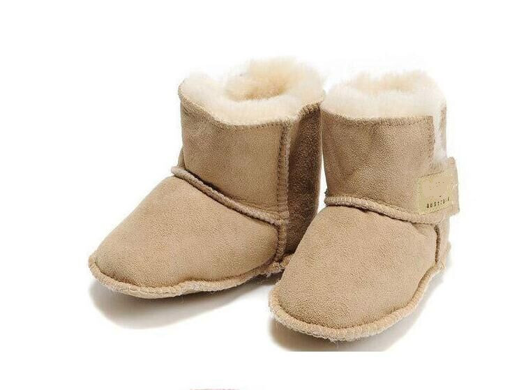 New Australia leather fur Warm baby first walkers Winter kids Boots \Toddler Shoes\soft sole Infant Shoes for baby boy girl(China (Mainland))