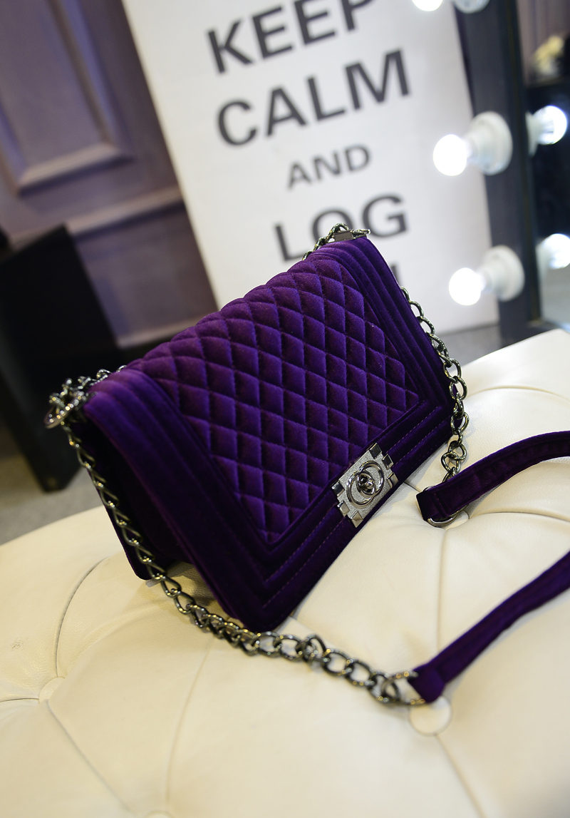Europe and the United States of new fund of 2015 autumn winters is female bag suede shoes chain single shoulder bag(China (Mainland))