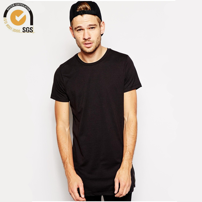 Mens tall tee side zipper t shirt side zip oversized t for Mens tall t shirts
