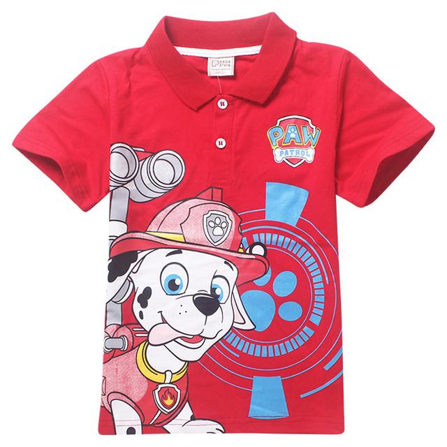 4 шт. оптовая продажа щенок патруль футболки детский спортивный костюм футболки хлопок щенок патрульные собаки детский с коротким рукавом футболки