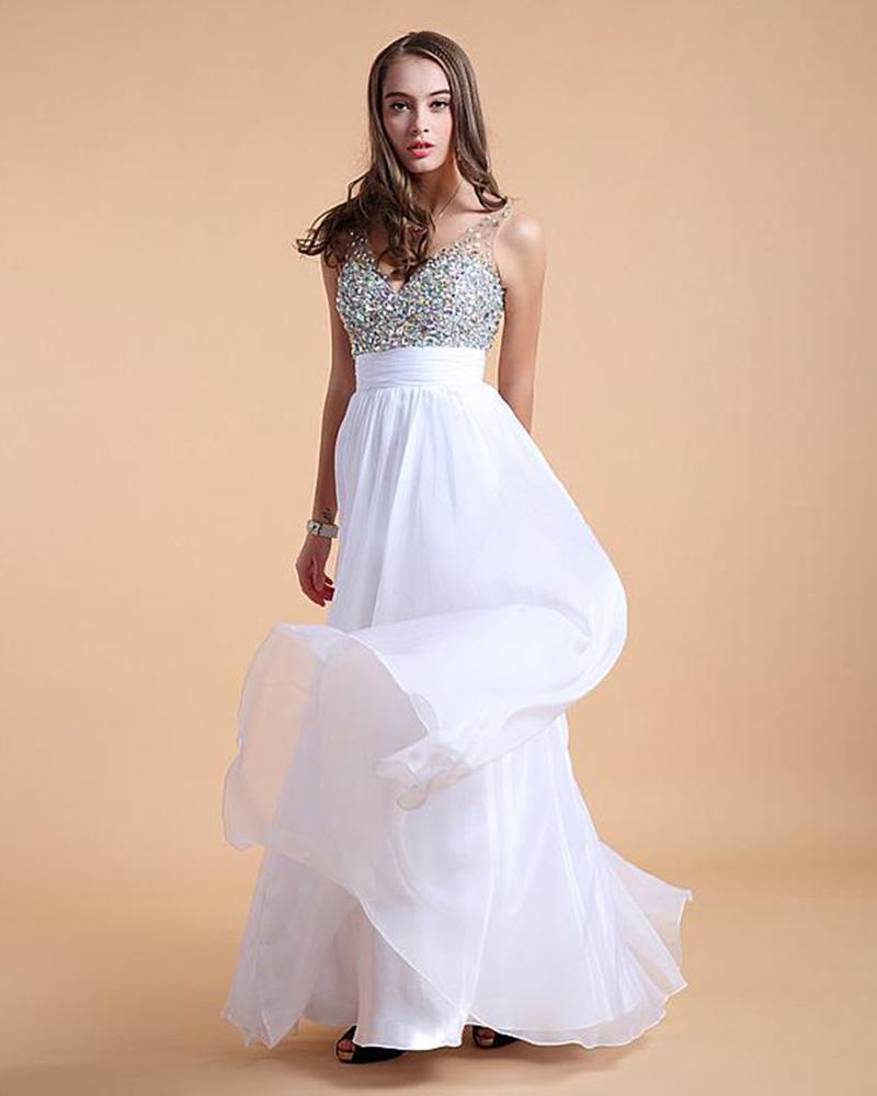 Online Get Cheap White Dresses for Graduation Plus Size ...