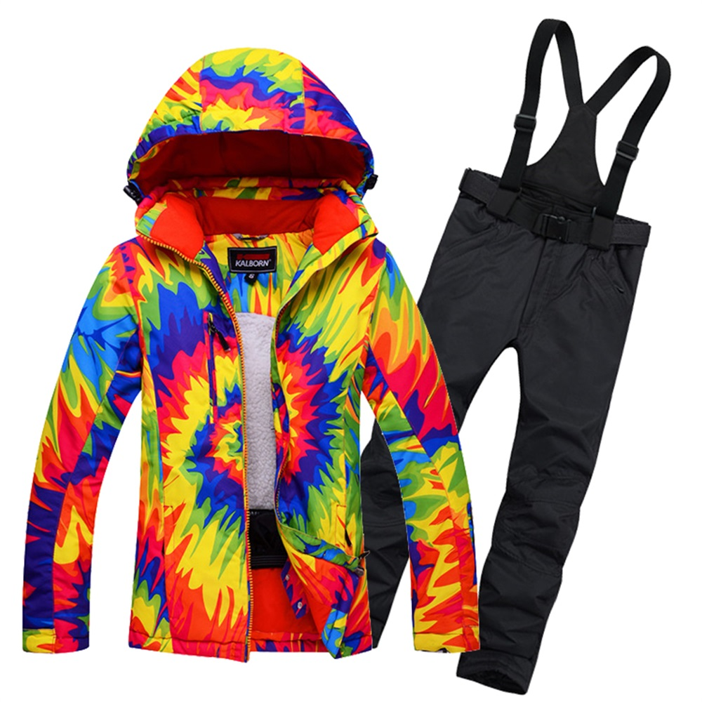 Womens Snowboard Snow Suit Ladies Ski Jacket and Trousers Waterproof Breathale Thermal Windproof Female Skiing Clothing(China (Mainland))
