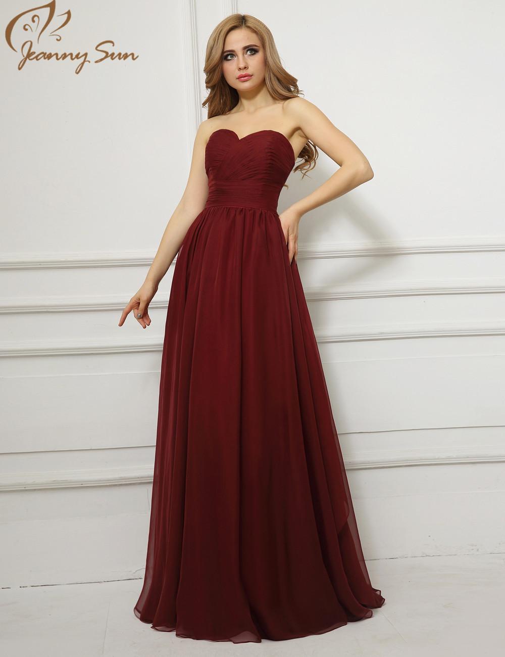 Vestidos noche vino tinto gasa una línea barato largo robe soiree 2015 imágenes reales Sweetheart vestido de partido del envío libre JS780 en Vestidos de