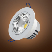 10pcs / lots Silver & White Face 7W 10W 12W 15W 20W 30W AC85-265V Dimmable LED COB Spot Recessed Downlight with AC110V/AC220V()