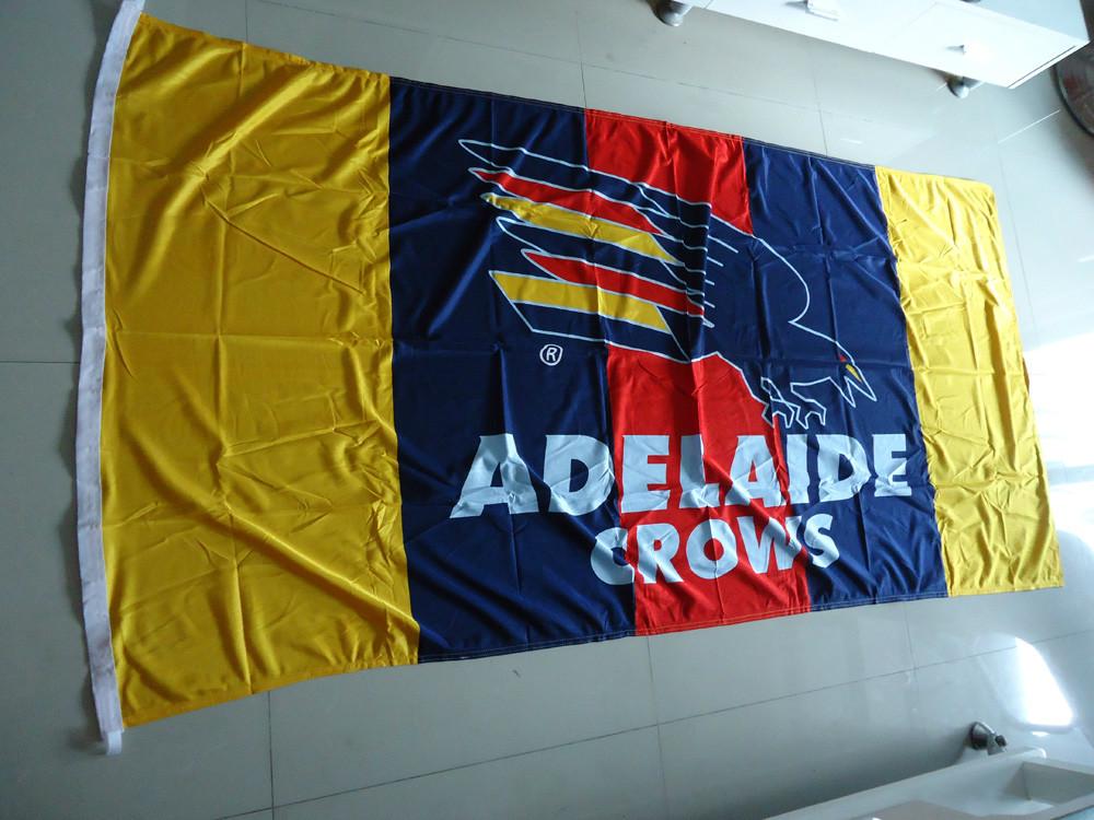 free shipping Adelaide crows logo flag , Adelaide crows logo banner, 90X150CM size,100% polyster,bintang(China (Mainland))