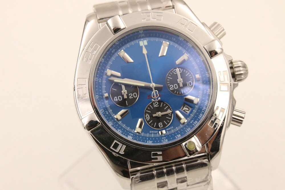 High quality Stop Watch clock, luxury stainless steel quartz Watch reloj leisure XFCS relogio masculino shark(China (Mainland))