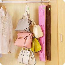 4 Hooks Nonwovens Handbag Purse Bags Holder Shelf Hanger Hanging Rack Organizer(China (Mainland))