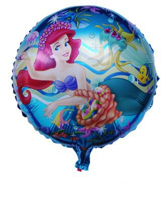SMILE MARKET Wholesale 50pcs/lot Promotional Hot Sale Princess Round Balloon For Birthday Party Decorations(China (Mainland))