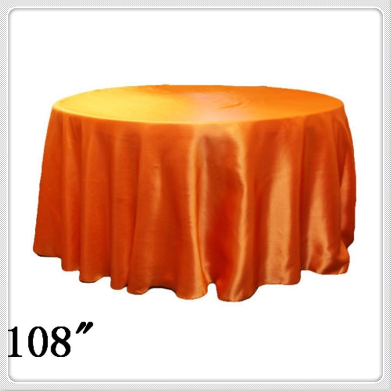 10pcs Free Shipping table cloth round navy blue 108'' Satin Cheap table cloths for weddings decoration(China (Mainland))