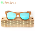 High Quality Wooden Frame Case Free 100 Natural Handmade Bamboo Sunglasses Polarized Sun Glasses For Men