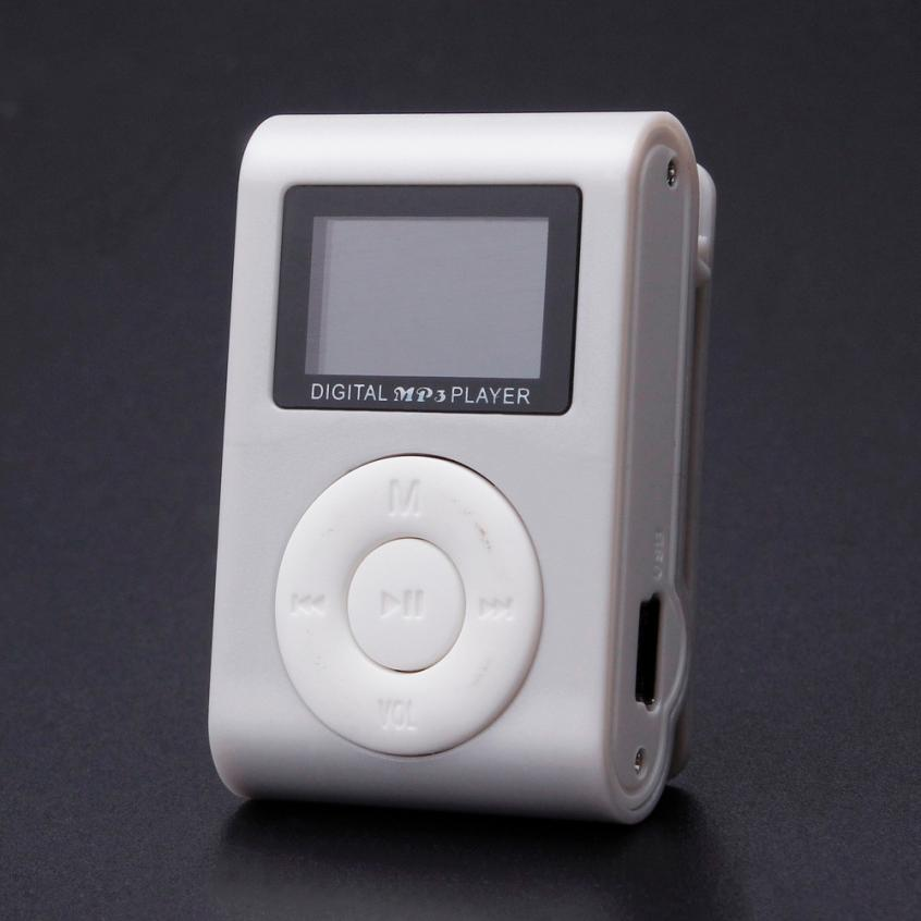 2016 New Mini USB Clip MP3 Player LCD Screen Support 32GB Micro SD TF Card can