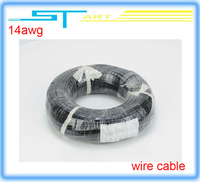 low shipping fee  1meter 400/0.08 14awg soft silica gel line red black silicone wire cable wholesale  boy toy