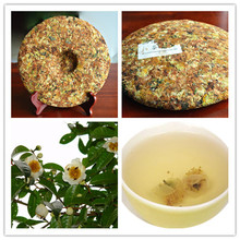 357g Camellia pu er tea cakes 2009 ancient trees old puer tea china Yunnan cake fragrant flower puerh tea tea for weight loss