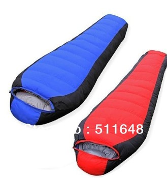 Free Shipping Mummy Adult Outdoor Camping Duck Down Sleeping Bag Extreme Cold Weather -22 degree waterpoof ripstop fabric