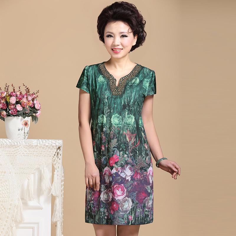 Summer Dresses For Older Women Short Sleeve Fashion One