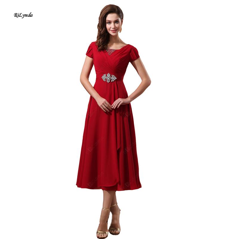 2016 Красный с коротким рукавом платья Невесты шифон свадебное партия vestdos de festa robe de mariage свадебные платья невесты платье