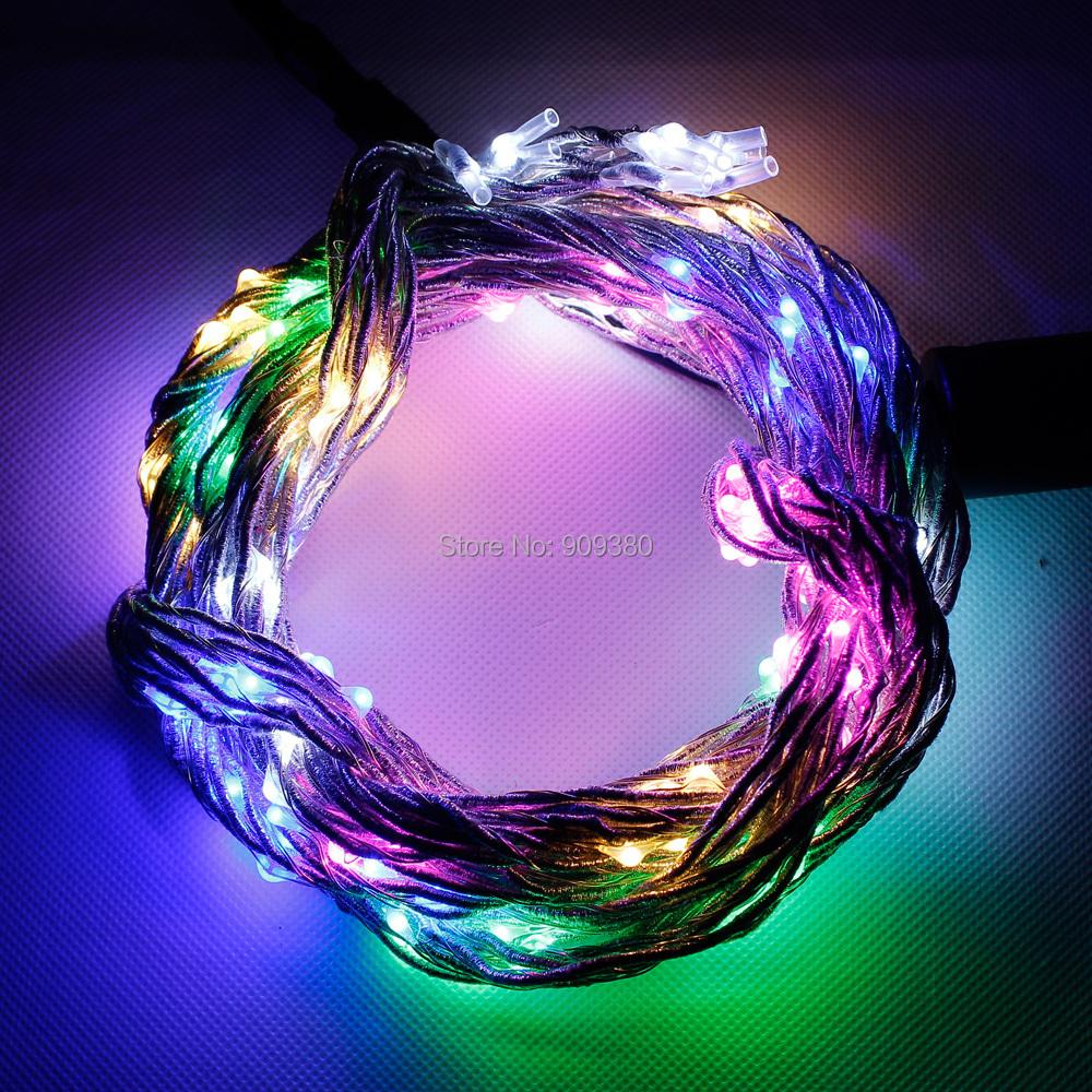 Multicolor garland lighting 200 led silver vine starry fairy a2g aloadofball Images