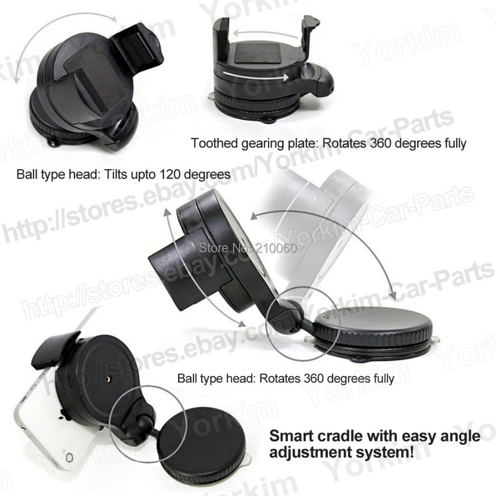 Universal 360 degree spin Car Windshield Mount cell mobile phone Holder Bracket stands iPhone5 4S samsung Smartphone GPS - UFavors store