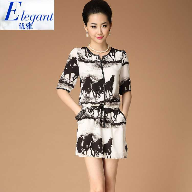 Top Quality European and American womens summer Ma Totem new tropical casual silk dress 1435355292(China (Mainland))