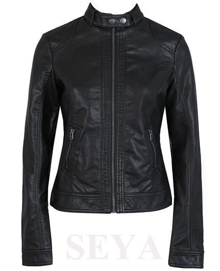 leather jacket women 2015 New fashion washed PU leather motorcycle jacket Slim female short leather Coat(China (Mainland))