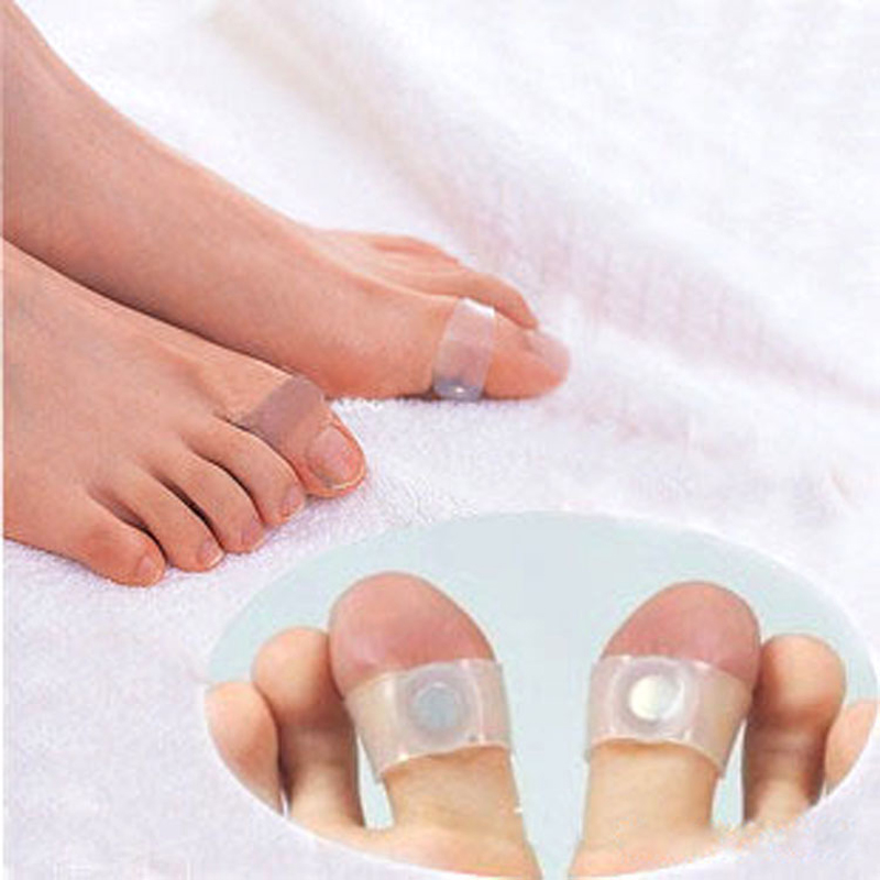 4packs of one Pair Slimming Silicone Foot Massage Magnetic Toe Ring Fat Burning For Weight Loss Health Care free ship(China (Mainland))