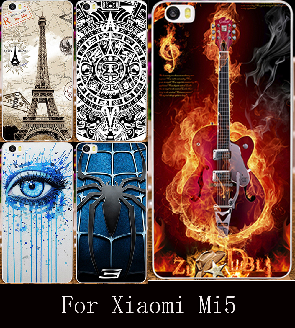 22 Styles DIY Printing Case for Xiaomi m5 Mi5 Mi 5 5.15 inch Plastic Back Cover Shell Skin Protective Mobile Phone Hard Case(China (Mainland))