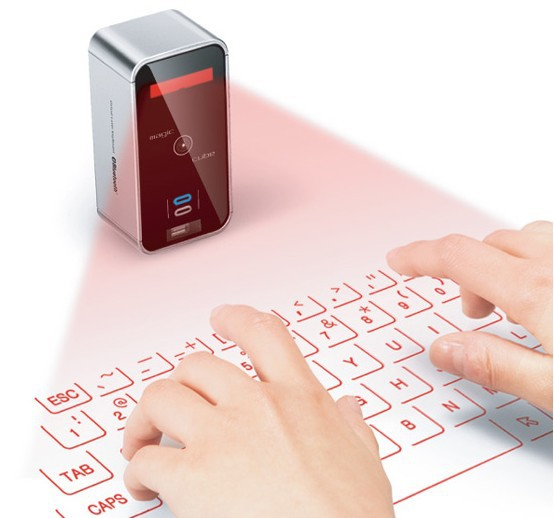 Hot sale original magic cube bluetooth laser projective virtual keyboard for ipad android mobile phone tablet free shipping(China (Mainland))